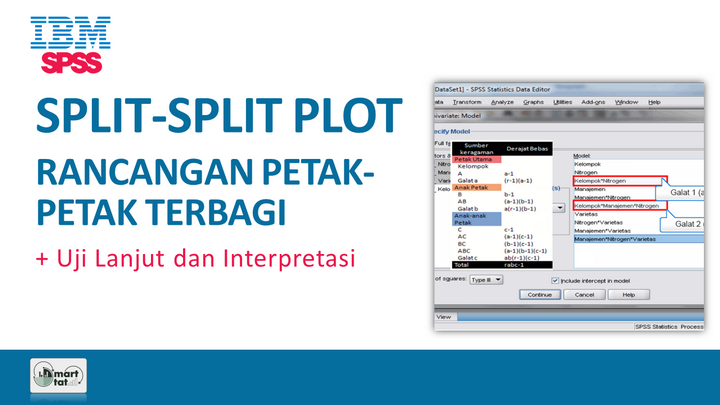 Tutorial SPSS: Split Split Plot